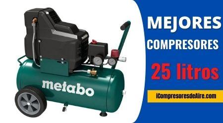 mejores compresores de aire 25 litros